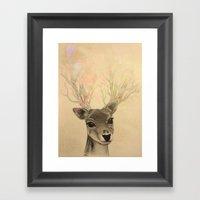 Electro-deer Framed Art Print