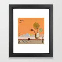 The rose of autumn Framed Art Print