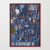 White Elephant In The Bl… Canvas Print