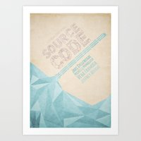Source Code - Minimal Po… Art Print