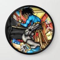 C2 & Posse piano player Wall Clock