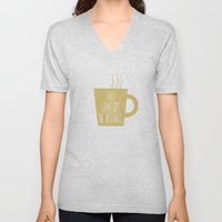 Take Comfort in Rituals. Coffee. Unisex V-Neck