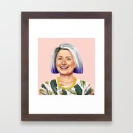 Framed Art Print featuring Hipstory - Hillary Clint… by Amit Shimoni