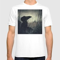 Thoughtful Plague Mens Fitted Tee White SMALL