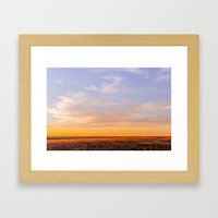 Golden South Dakota Suns… Framed Art Print