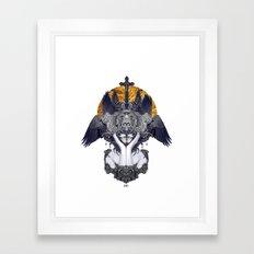 Black Feathers Framed Art Print