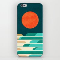 Chasing wave under the red moon iPhone & iPod Skin