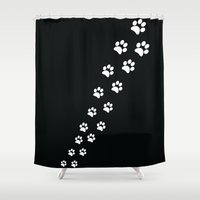 Cat Paws Shower Curtain