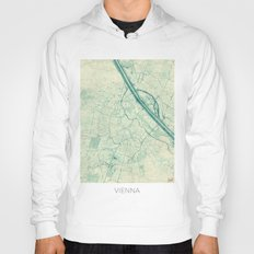 Vienna Map Blue Vintage Hoody