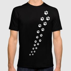 Cat Paws Black Mens Fitted Tee SMALL