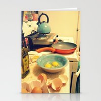 Sunday Morning Breakfast Stationery Cards