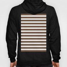 Horizontal Stripes (Coffee/White) Hoody