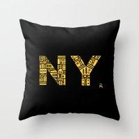 NIGHT NY - PM Throw Pillow