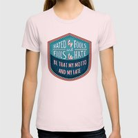 Hated By Fools  Womens Fitted Tee Light Pink SMALL