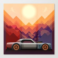 Into the Sun, Ford Mustang 65 KB Canvas Print