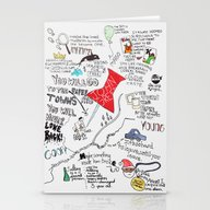 Stationery Cards featuring Paper Towns, John Green by Natasha Ramon