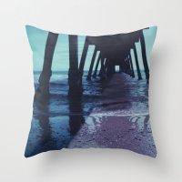 Glenelg Pier, Polaroid Throw Pillow