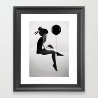Framed Art Print featuring No Such Thing As Nothing by Ruben Ireland
