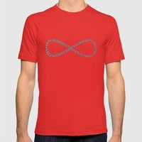 Pi Is Infinite Mens Fitted Tee Red SMALL
