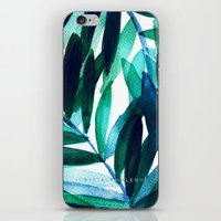 Palm Leaves - Teal Ombre iPhone & iPod Skin