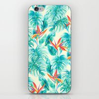 Tropical Paradise Pale Yellow iPhone & iPod Skin