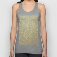 Ab Lines Gold and Navy Unisex Tank Top