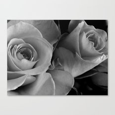 Roses Black & White #4 Canvas Print