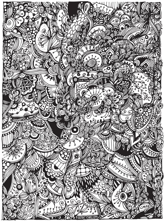 Detailed rectangle, black and white  Art Print