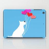 Schnauzer Dog With Ballo… iPad Case