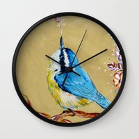 Spring Songbird  Wall Clock