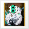 those eyes... in the sky - the astronaut Art Print
