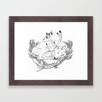 Yule Card Design  Framed Art Print