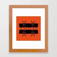 Orange AbstractArtwork Framed Art Print