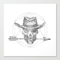 Canvas Print featuring Dead Sheriff Greyscale by Kostyk