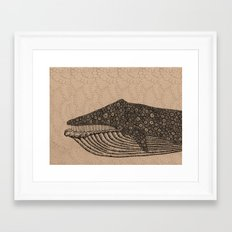 Whale Framed Art Print