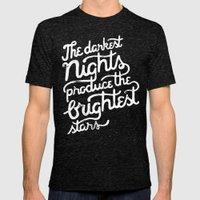 Darkest Nights Mens Fitted Tee Tri-Black SMALL