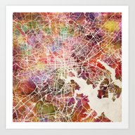 Baltimore Map Art Print
