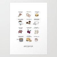 Foods of Gilmore Girls Art Print
