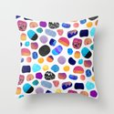 Magic Stones (Light background) Throw Pillow