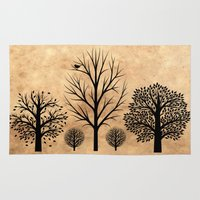 Trees Silhouette  Rug