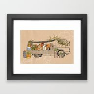 Green Invasion Framed Art Print