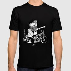 Route 66 Lover SMALL Black Mens Fitted Tee