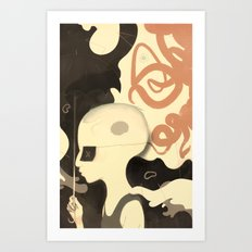 Para-pluie (color) Art Print