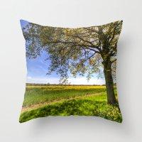 The Daffodil Summer Farm Throw Pillow