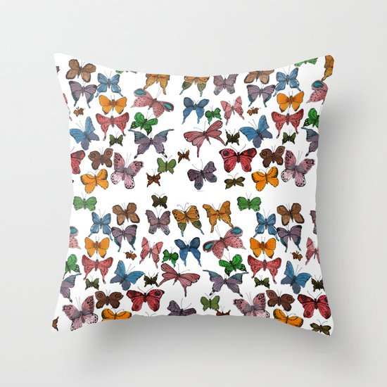 Lepidoptera Throw Pillow