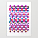Pierrot II/Happy Memoir Pattern Art Print