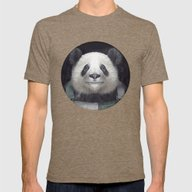 Billy Bob Panda Mens Fitted Tee Tri-Coffee SMALL