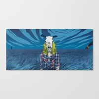Cowgirl From Hell - Blue Canvas Print