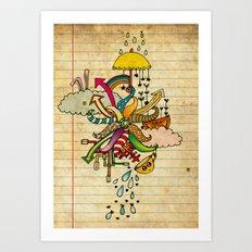 Notebook World Art Print