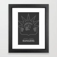Minimal New York (Ranger… Framed Art Print